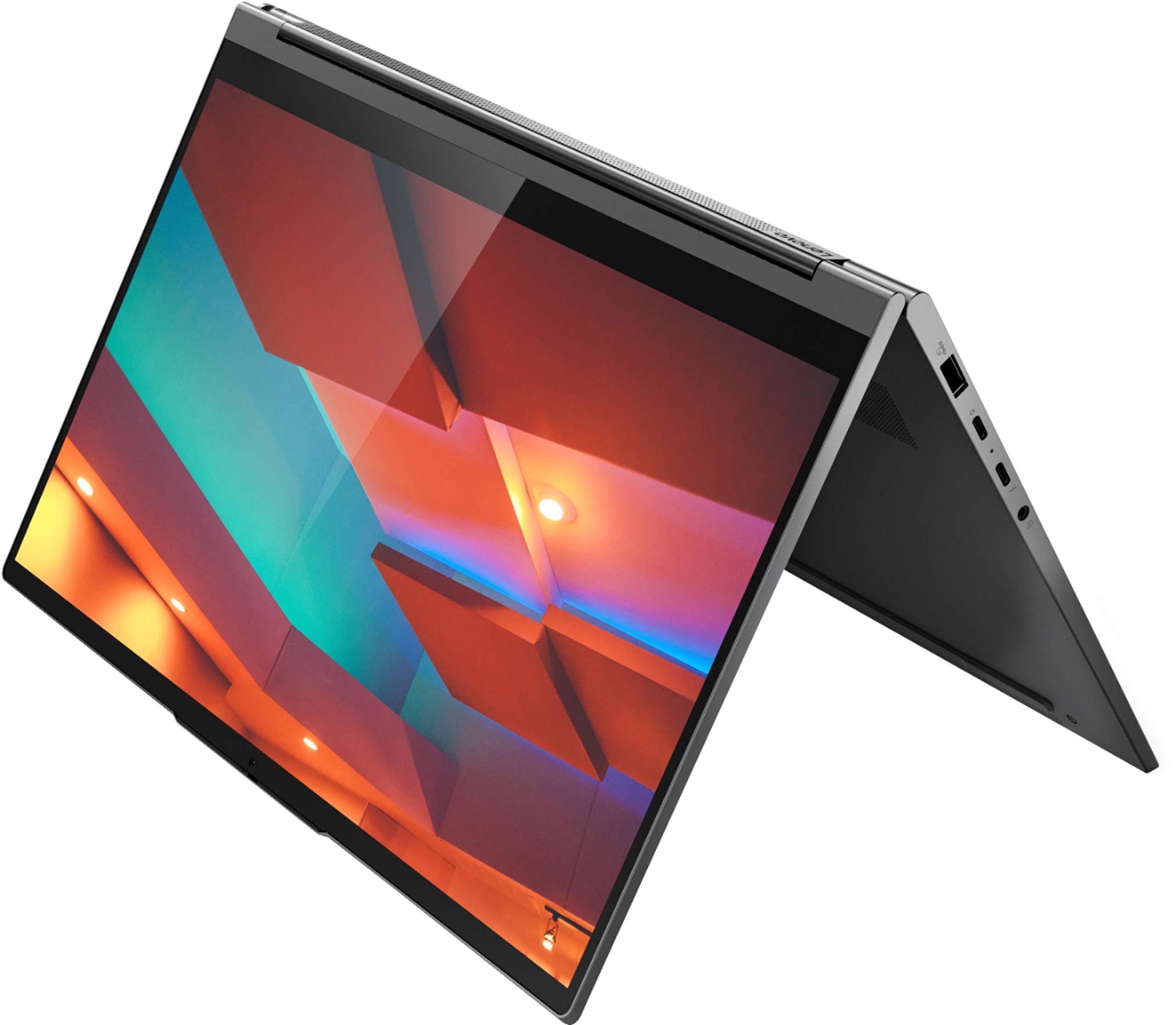 "Flagship 2021 Lenovo Yoga C940 2 in 1 Laptop 14"" Full HD IPS Touchscreen 10th Gen Intel Quad-Core i7-1065G7 12GB DDR4 512GB SSD Dolby Thunderbolt Backlit Fingerprint Win10 + USB-C Adapter"