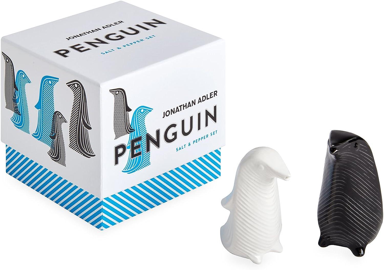 Jonathan Adler 26634 Penguins Salt Pepper Set, Multi
