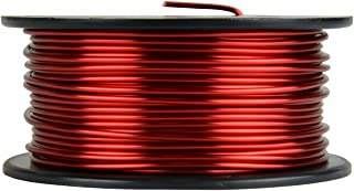 TEMCo 13 AWG Copper Magnet Wire - 1 lb 63 ft 155°C Magnetic Coil Red