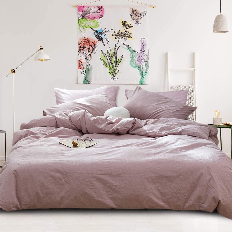 Popular products VM VOUGEMARKET Washed Dedication Cotton Girls Blush Cover Pink Duvet Sets Q