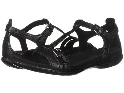 ECCO Flash Buckle Sandal (Black) Women