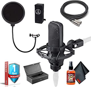 Audio-Technica AT4040 Cardioid Condenser Studio Microphone with 10ft XLR, Pop Filter, Shockmount, Hard Case, Cleaning Kit and 1- Year Extended Warranty