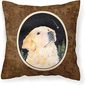 Caroline's Treasures SS8480PW1414 Starry Night Golden Retriever Decorative Canvas Fabric Pillow, 14Hx14W, Multicolor