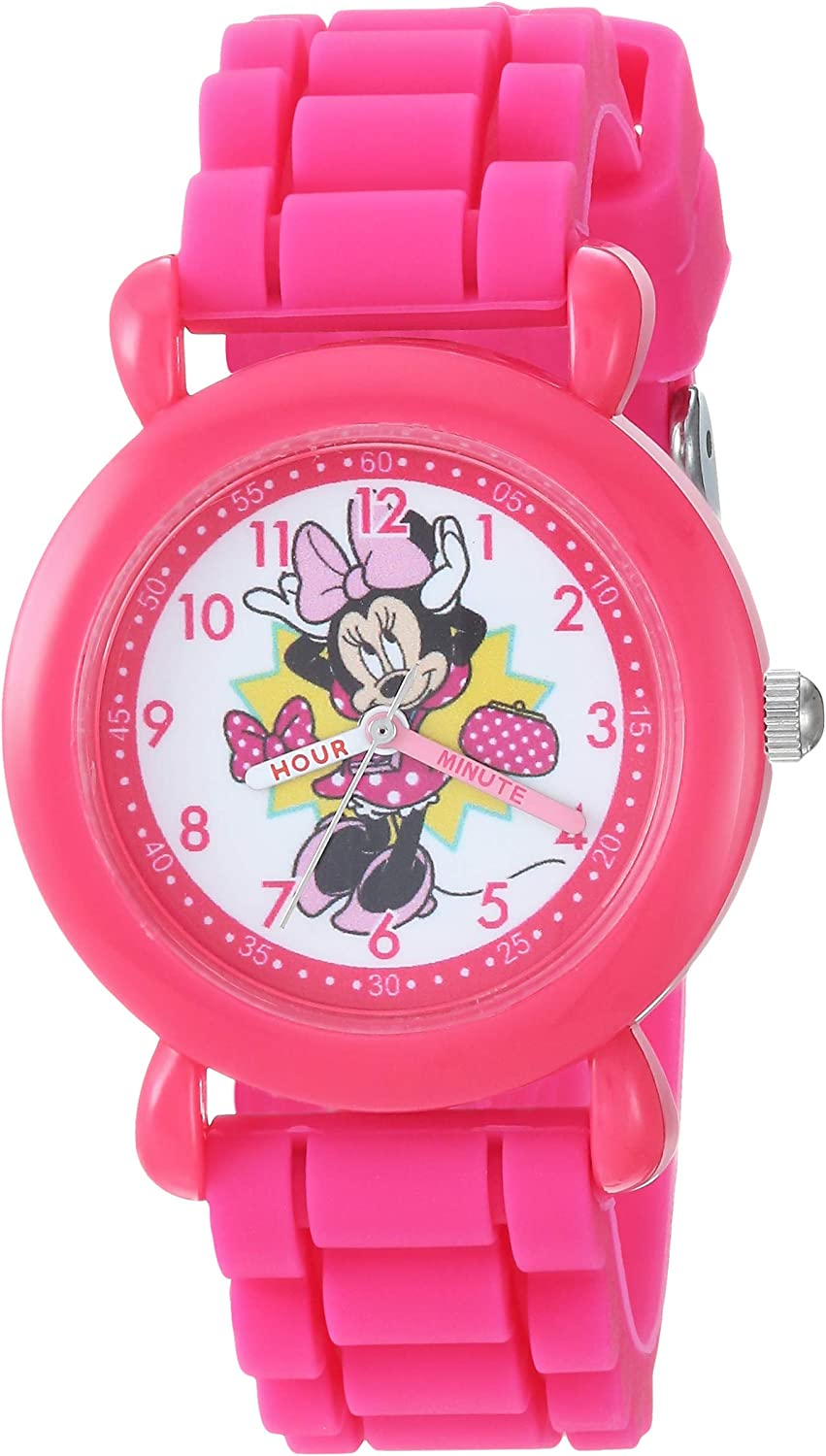 Disney Girls Minnie Mouse Analog-Quartz with Watch Silicone Stra ! Super beauty product restock quality top! Seasonal Wrap Introduction