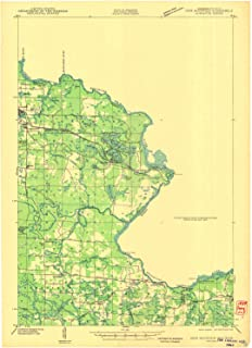 YellowMaps Iron Mountain WI topo map, 1:48000 Scale, 15 X 15 Minute, Historical, 1941, 25.7 x 18.5 in