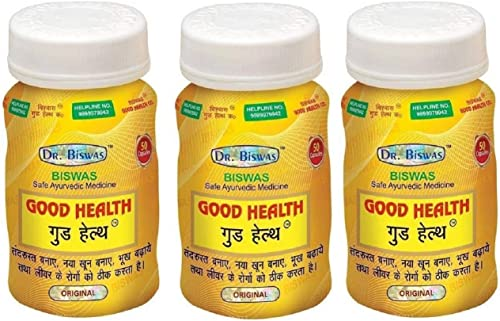 Good Health Dr Biswas Safe Ayurvedic Capsules For Overall Health Pack of 3 50X3