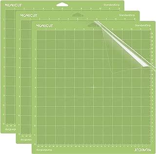 Monicut 12x12 Cutting Mat for Cricut Explore One/Air/Air 2/Maker(Standardgrip, 3 Pack) Cutting Mat with Adhesive Non-Slip Flexible Square Gridded Cut Mat Replacement Accessories Set Matts Vinyl Craft
