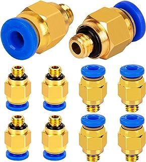 LUTER PC4-M6 pneumatische snelkoppeling (verpakking met 10 stuks), 4 mm schroefdraad M6 push-aansluiting voor PTFE-slang 3...