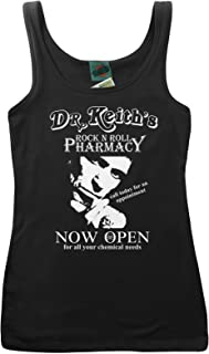 Keith Richards Inspired Dr Keith's Rock N' Roll Pharmacy, Women's Vest
