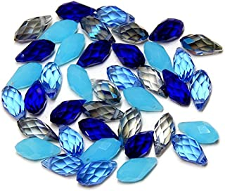 BRIOLETTE Celestial Crystal Teardrop Beads 11x6mm Sky Sapphire Aqua Clear AB 40pc