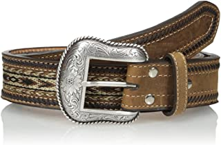 Nocona Men's Brown Ribbon-Lace Belt