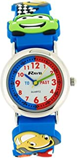 Ravel Boys 3D Funky Cars Design Time Teacher White Dial Watch R1513.67