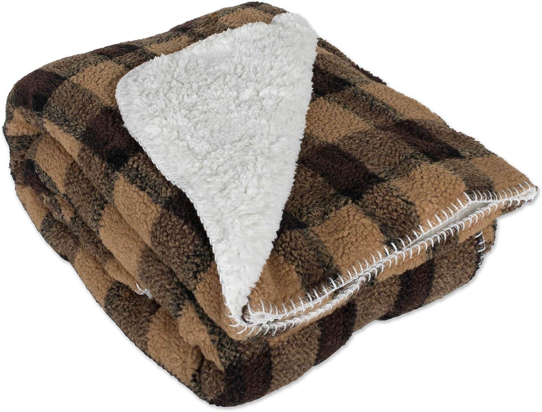 DII Corduroy Sherpa Fleece 100% quality warranty! Brown 50x60 Throw Cheap mail order shopping Blanket