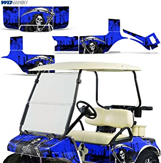 Club Car Golf Cart 1983-2014 Graphic Kit Decal Sticker Wrap Accessories Parts REAPER BLUE