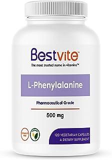 L-Phenylalanine 500mg (120 Vegetarian Capsules) - No Stearates - Vegan - Gluten Free - Non GMO