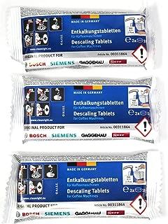 Bosch Original Tassimo Descaling Tablets (1 Box Of 6 Tablets) C/W
