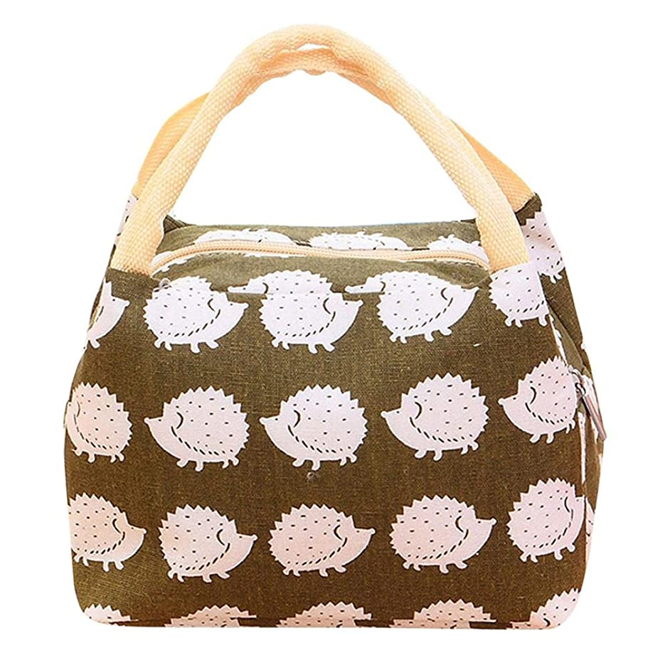 Clearance Sales!! Sttech1 Insulated Lunch Bag Box for Kids, Capacity Bento Bag for School/Picnic, Print Patterns (Hedgehog C)