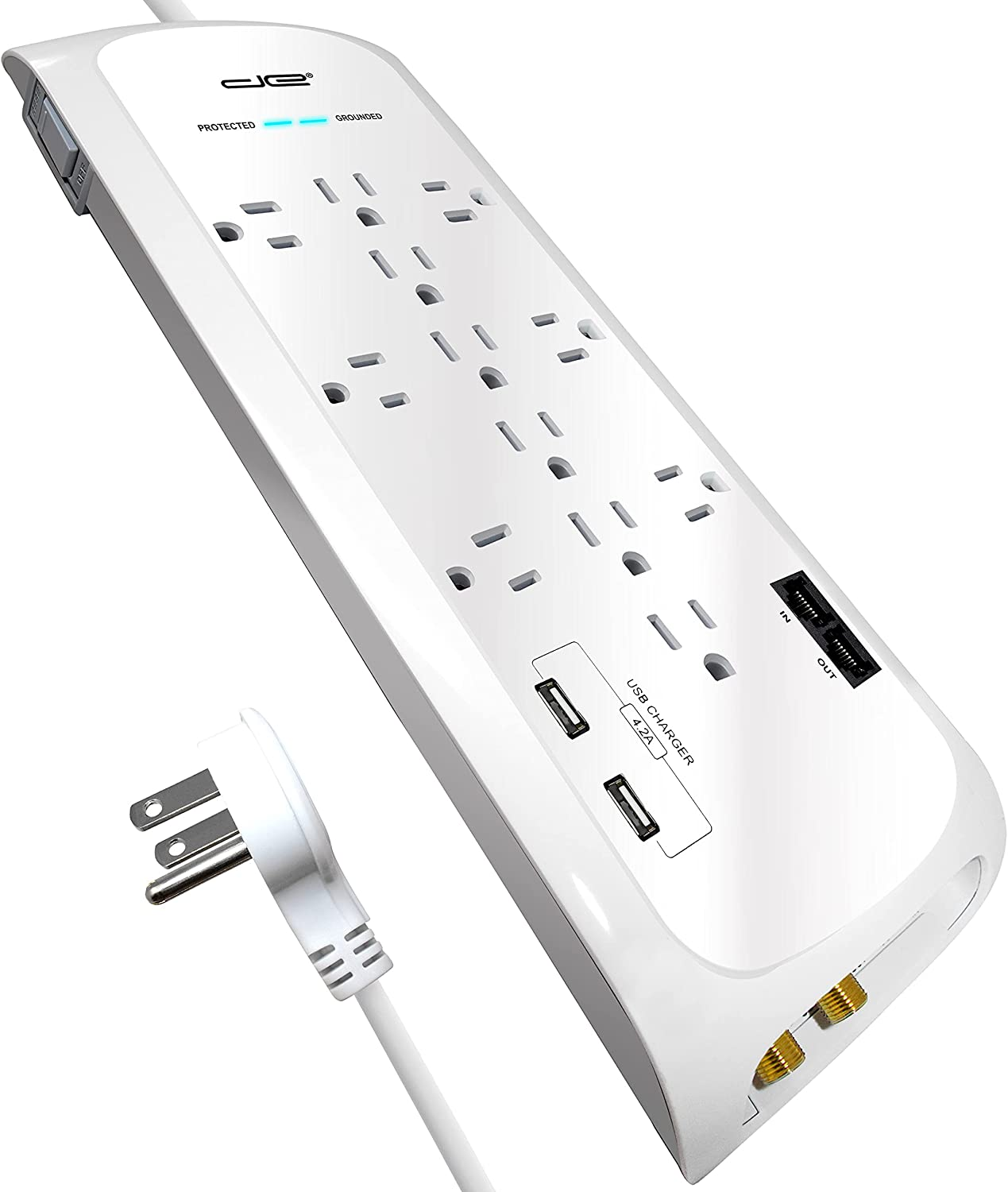 Digital Energy 12 Outlet 4200 Joules Surge Protector Power Strip