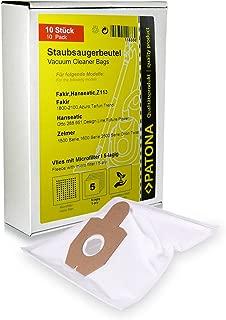PATONA 10x Bolsas de aspiradora compatible con Swirl Z 113, Zelmer, Fakir, Hanseatic, Quigg, incl. microfiltro: Amazon.es: Hogar