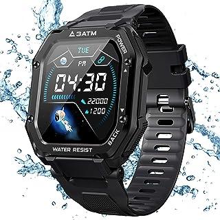 KOSPET Rock Smartwatch vattentät 3 ATM, 1,69 tums sportklocka med blodtrycksmätning, pulsmätare, stegräknare fitness track...