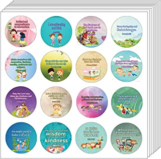 NewEights Kindness Bible Verses Stickers for Kids (20 Sheet) - Total 320 pcs (20 x 16pcs) Individual Small Size 1.5 x 1.5 ...