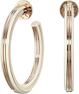 T-Stretch Hoop Earrings