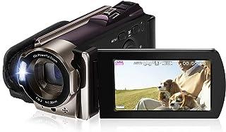ビデオカメラ Rosdeca デジタルビデオカメラ HD 16倍デジタルズーム 一時停止機能 HDMI機能付き 3.0液晶ディスプレイ 270度回転液晶画面 SDカード(最大32GB) 二つバッテリーあり 日本語取扱説明書