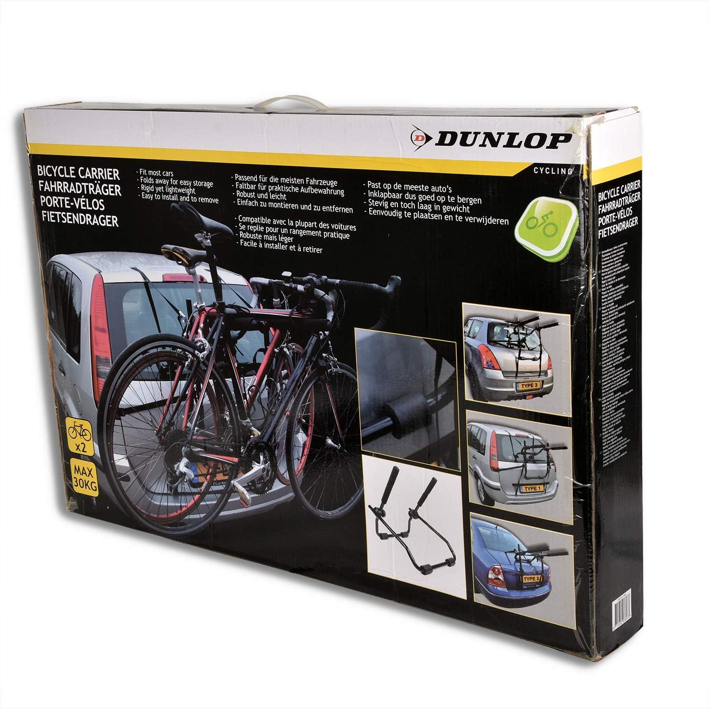 HSM Dunlop bicycle carrier for the tailgate tailgate carrier for 2 wheels,  rear carrier foldable : Amazon.de: Automotive