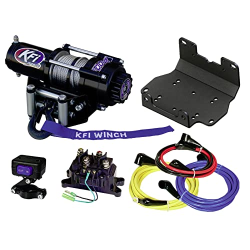 kfi combo kit - a2500r2 winch & winch mount - 2016-2018 yamaha grizzly 700