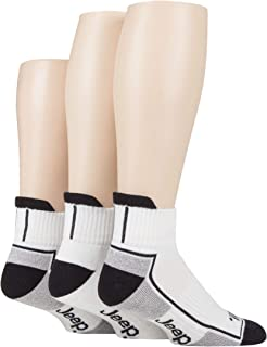 Jeep Mens Cushioned Sports Ankle Socks Pack of 3