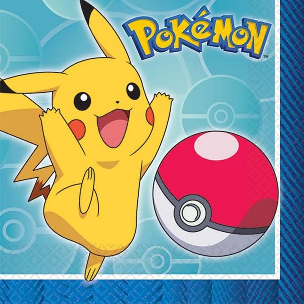 Pokemon Beverage Napkins - Includes 16 per package