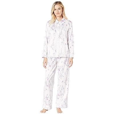 Carole Hochman Brushed Back Satin Pajama Set (Watercolor Floral) Women