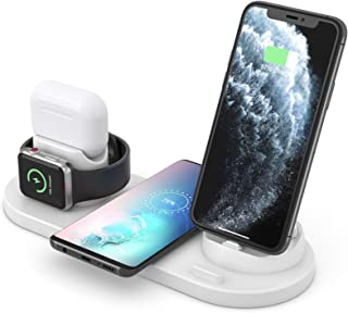 Aeroway Wireless 6 in 1 Charging Dock for Multiple Device, Compatible with iPhone/Android/TypeC with USB Port,Fast QI Wire...