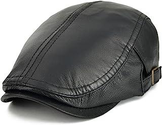 قبعة VOBOOM من الجلد الأصلي قابلة للتعديل من الجلد الطبيعي قبعة نيوز بوي 121