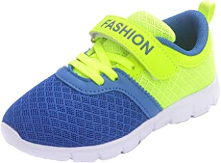 WUIWUIYU Boys Girls Outdoors Lightweight Mesh Trainers Athletic Running Sport Shoes Sneakers