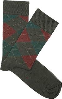 HOOK, Calcetines Rombos Verde y Caldera - Hombre y Mujer - 100% Algodón - Hecho en España - 5018