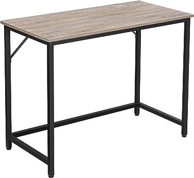 VASAGLE Bureau, Table, Poste de Travail, Petite Taille, 100 x 50 x 75 cm, pour Bureau, Salon, Chambre, Assemblage Simple, mét