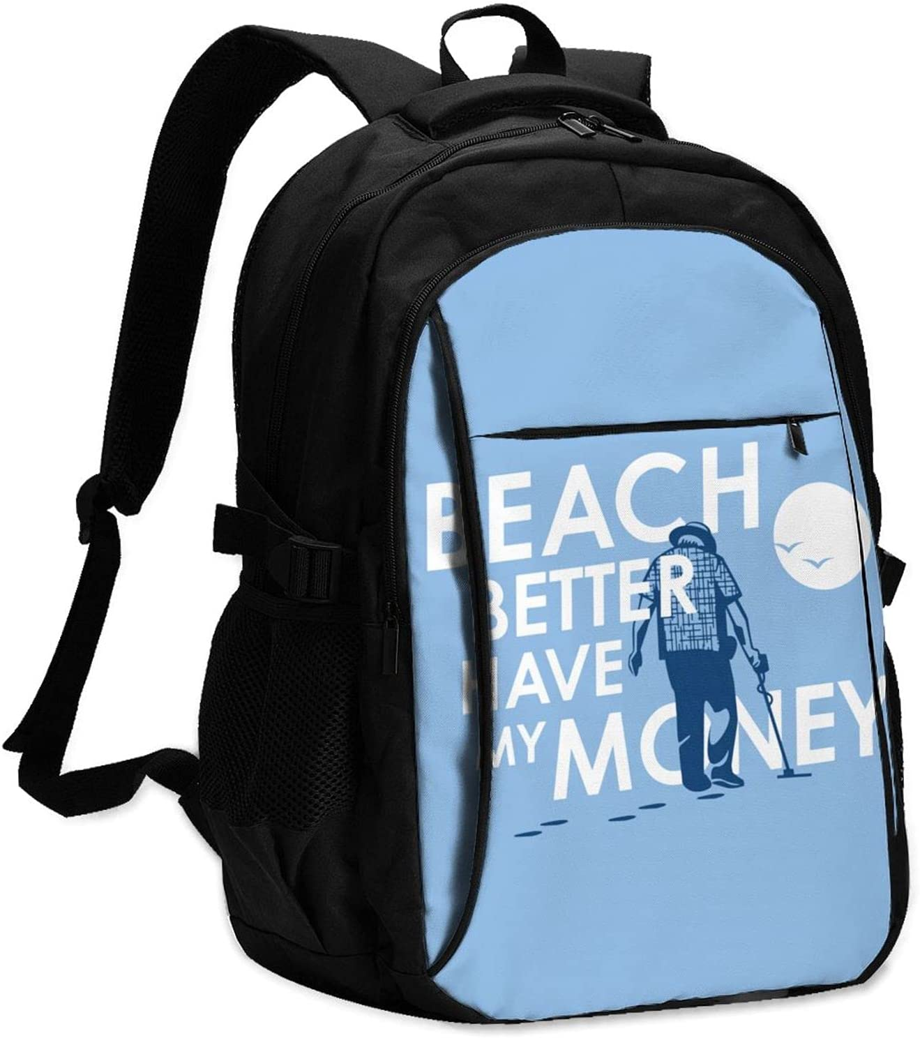 Beach Popular shop is the lowest price challenge Better Have Max 58% OFF My Money Stylish Cha Usb With College Backpack