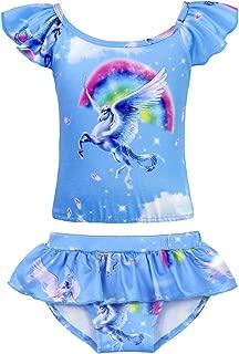 Cotrio Unicorn Swimwear Girls Two-Pieces Swimsuit Toddler Bathing Suit Bikinis (Hot Pink)