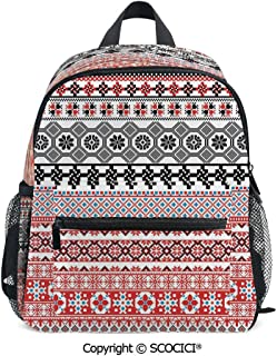SCOCICI Extra Durable Backpack Ethnic Aztec Pattern Perfect for Kids Daily Use