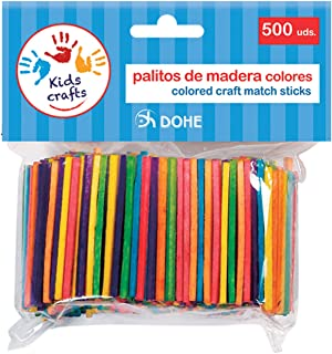 Dohe 18107-Pack de 500 palitos de Madera, Color Surtidos (18107)