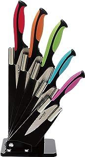 nuovva Juego de Bloques de Cuchillos de Cocina con codificación de Colores - Juego de Cuchillos de Colores de 6 Piezas