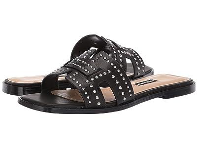 Nine West Genesia Studded Slide Sandal (Black) Women