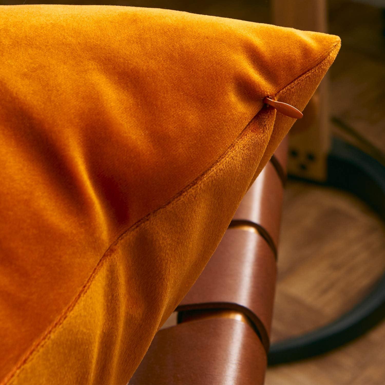 FRECINQ Fundas Cojines 45x45cm Cojines Sofa 2 Piezas Velvet Suave Funda de Almohada para el Sofa Sillas Jard/ín Decoraci/ón Coche Sala de Estar amarillo
