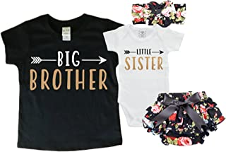 Big Brother/Little Sister Set. Matching Big Brother Little Sister Set 0-3Mo Bodysuit & 4T Shirt
