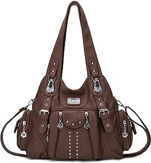 KL928 Damen Tasche Handtasche Schultertasche Umhängetaschen weiches PU leder Damenhandtasche Henkeltaschen Lederhandtasche...