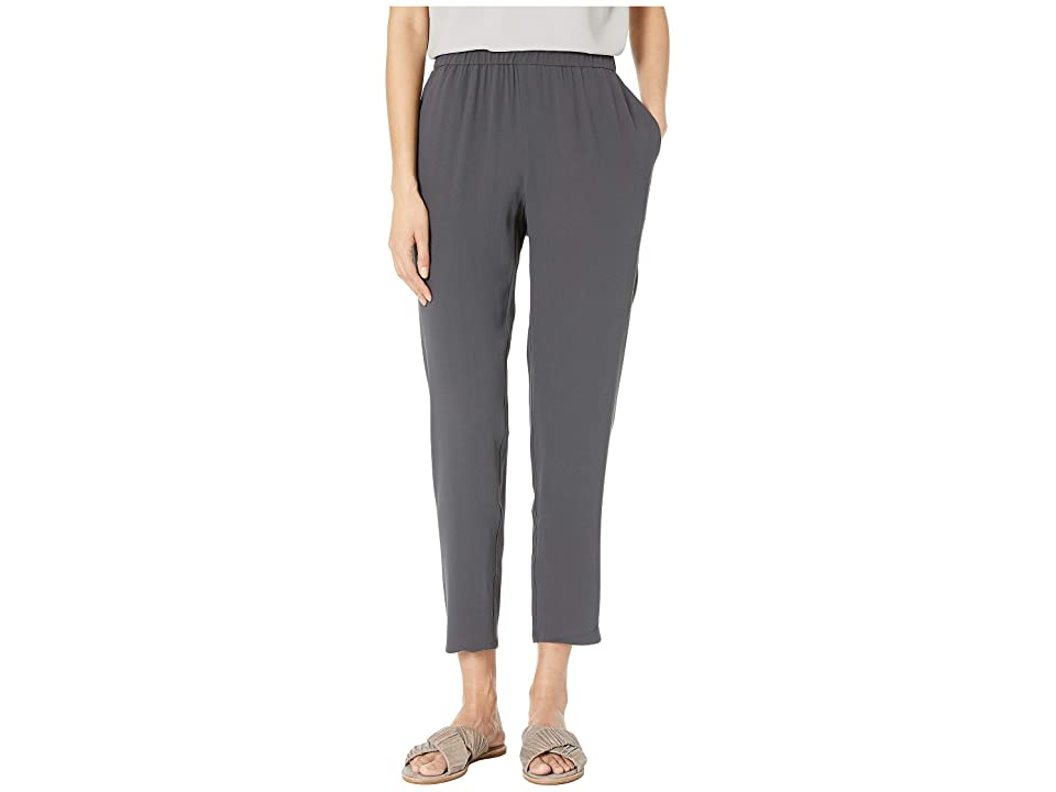 Eileen Fisher Slouchy Ankle Pants (Graphite) Women