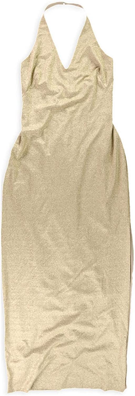 Ralph Lauren Womens Metallic Gown Dress, Metallic, 8