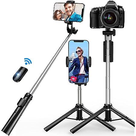 自撮り棒 三脚 SanDony Bluetooth セルカ棒 軽量 リモコン付き スマホ 6段階伸縮 360°回転 無線 折りたたみ コンパクト 持ち運び便利 iPhone7/8 iPhoneX iPhone11 Android&iPhone等スマホ カメラ対応