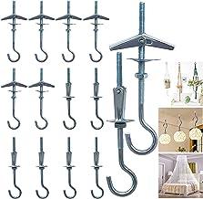 14 stuks veervouwpluggen met haken M4x90 mm kantelpluggen haken plafondhaken set voor hangende planten holle ruimten plugg...